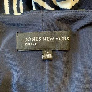 Jones New York Dresses - Jones New York Mixed Striped Midi Dress Size 16
